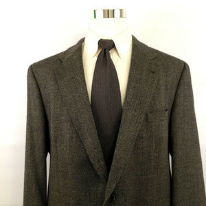Burberry Two Button Suit Blazer Sport Coat Sz 48L